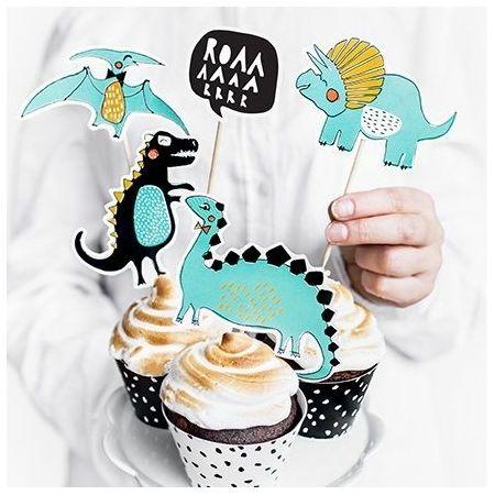 """5 pics à gâteaux """"dinosaure"""""""