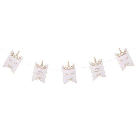 "Guirlande fanion papier ""licorne"""
