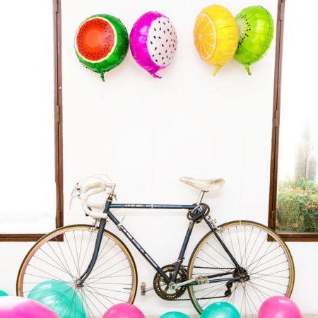 """Ballons mylar """"pastèque"""" - 46 cm"""