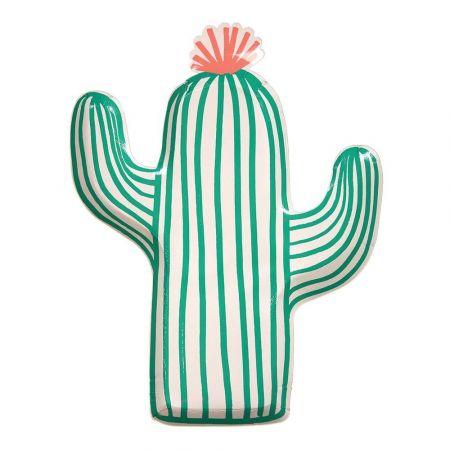 """12 assiettes """"cactus"""" - 25 cm"""