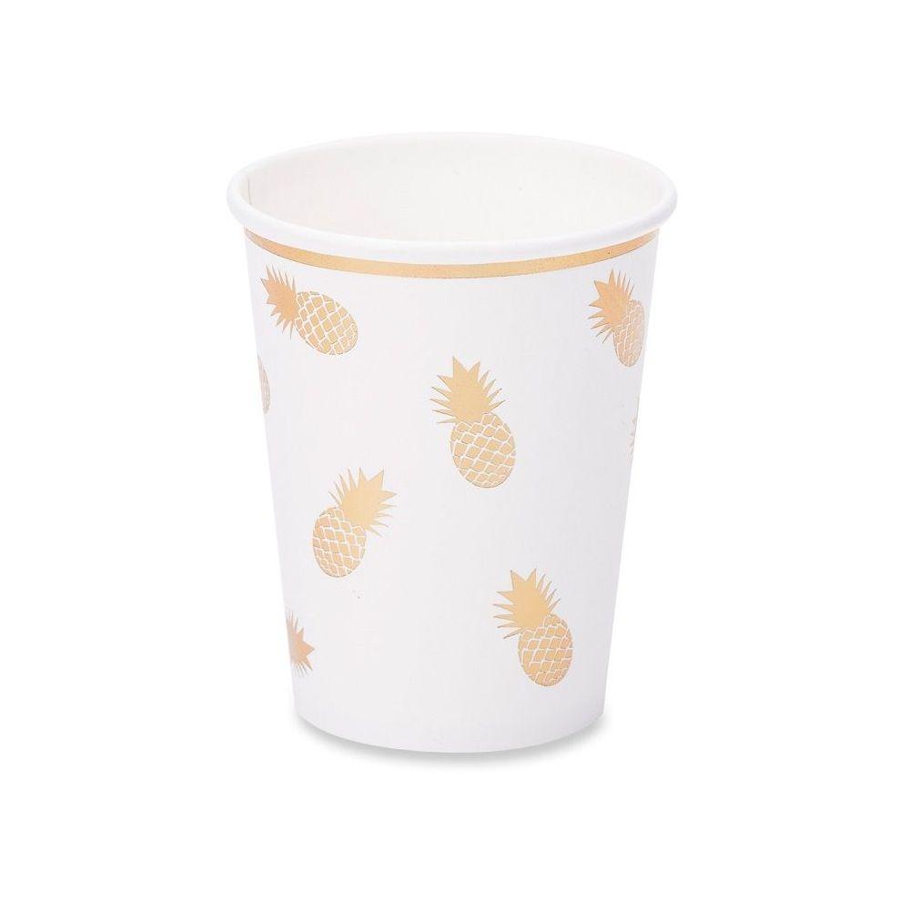 8 gobelets ananas dorés