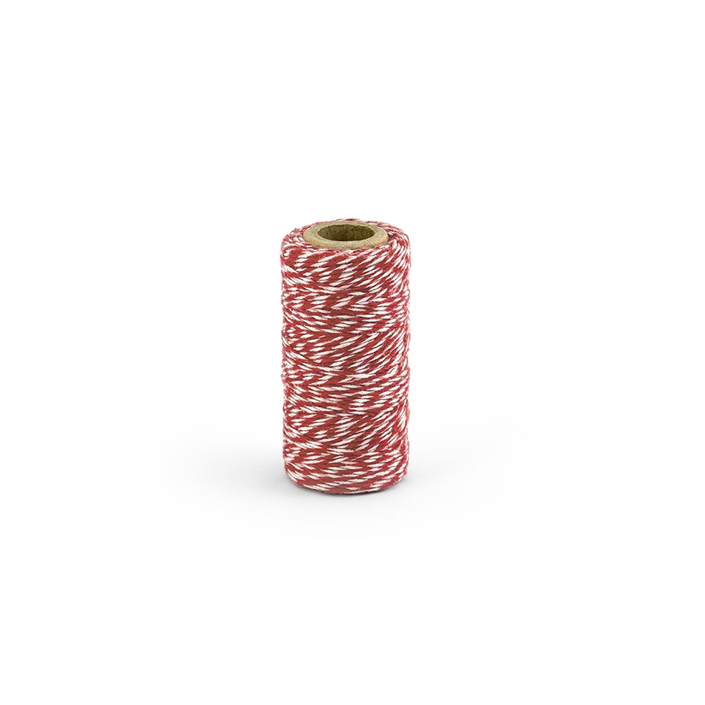 50 m ficelle baker twine rouge & blanc