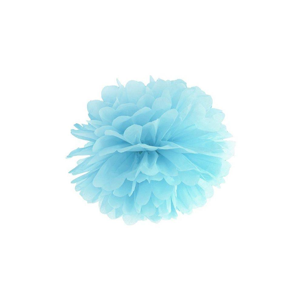 Pompon bleu ciel - 35 cm