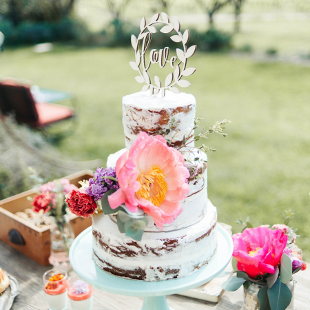 "Cake topper en bois couronne ""Love"""
