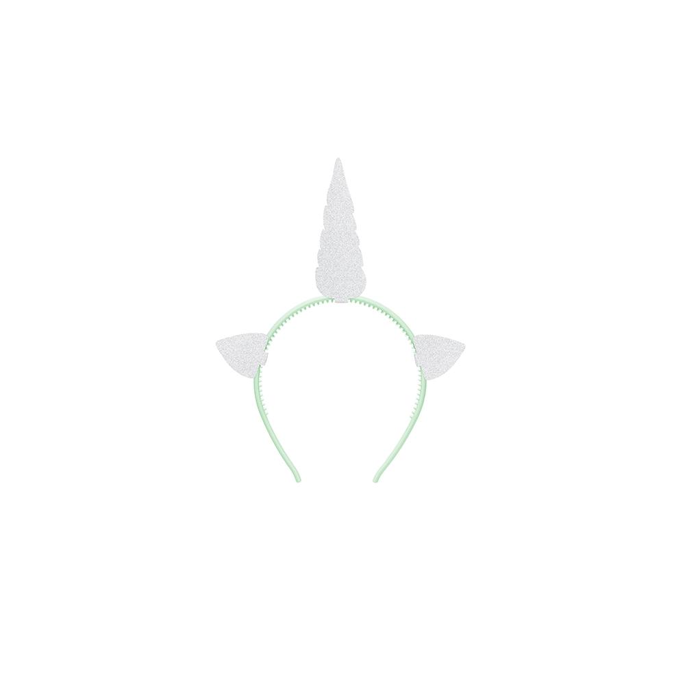 Serre-tête licorne paillettes argentées