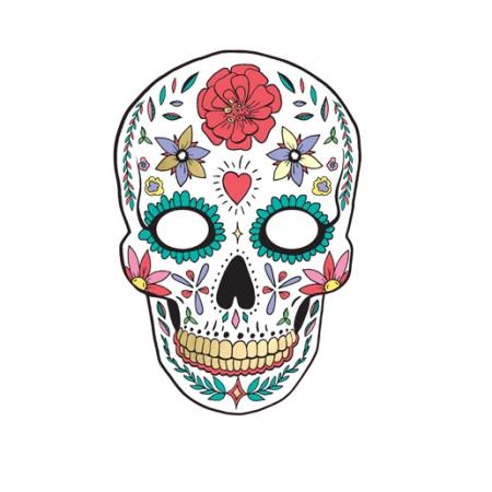 """Masque blanc """"dias de los muertos"""""""