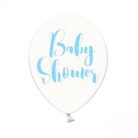 "Ballon transparent ""Baby shower"" bleu"