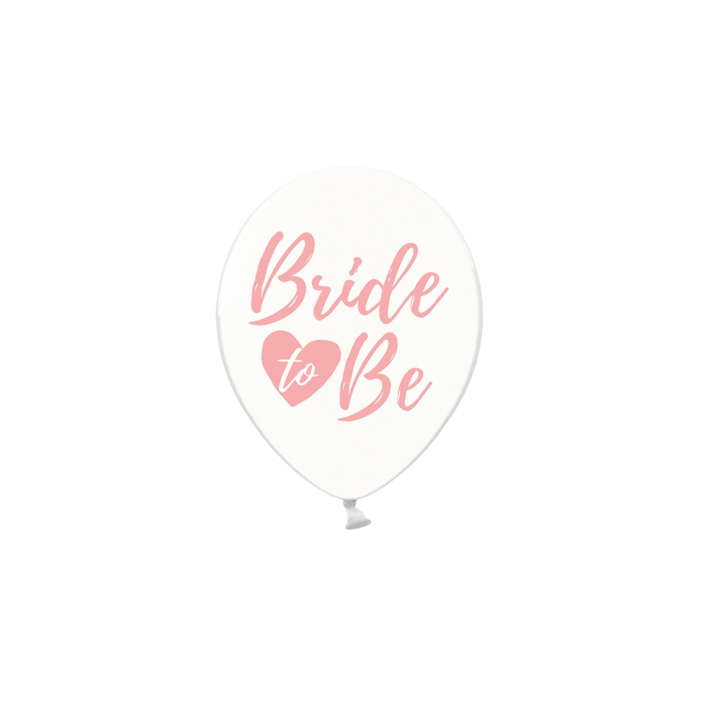 "Ballon transparent EVJF ""Bride to be"""