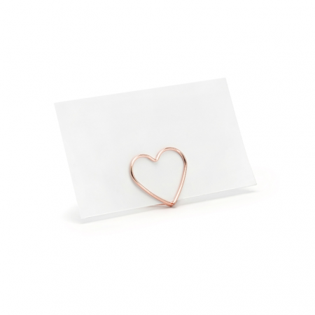 10 marque-places coeur rose gold