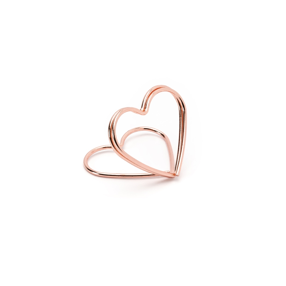 10 marque-places coeur rose gold