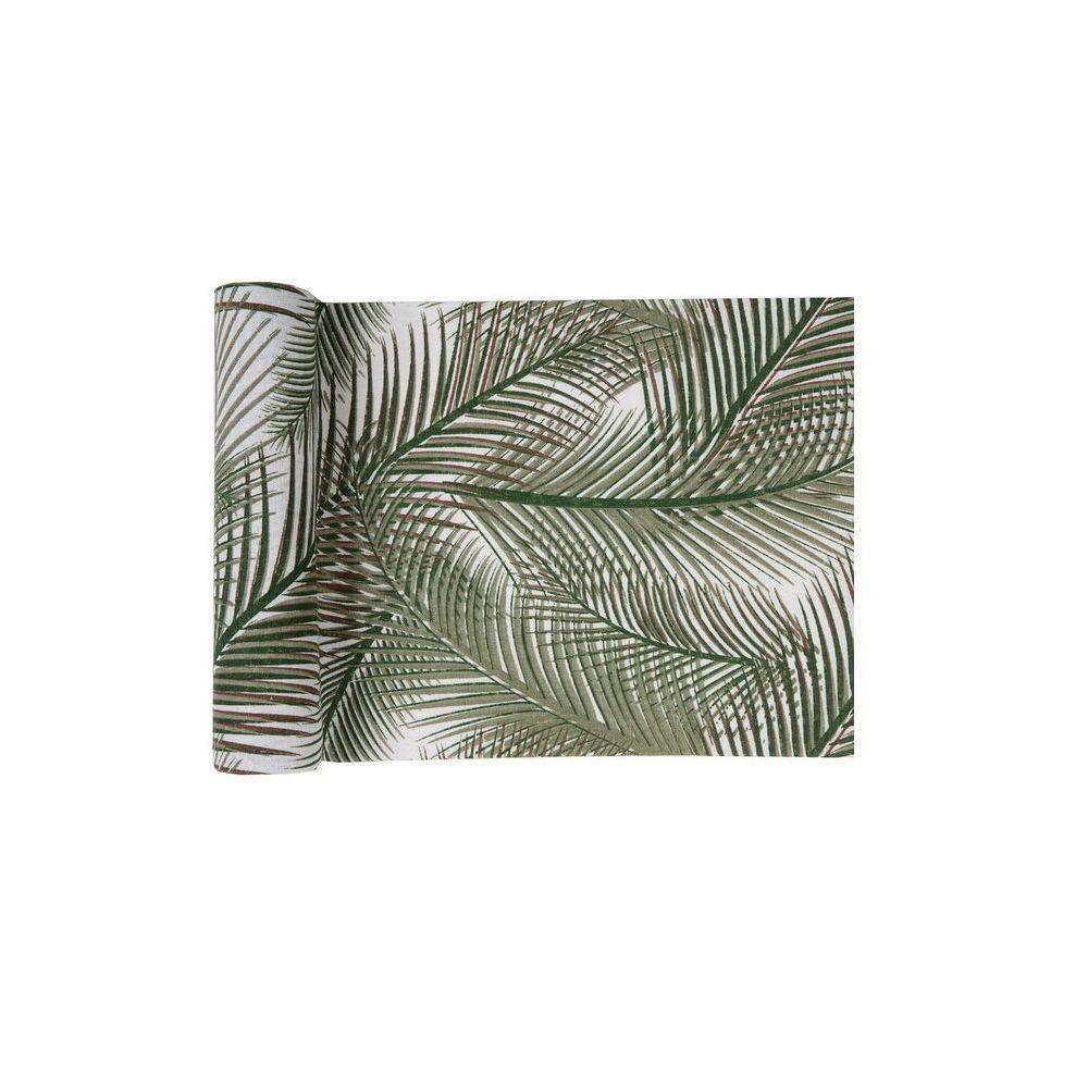 3 m chemin de table feuilles exotiques - 28 cm