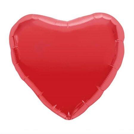 Ballon coeur rouge - 46 cm