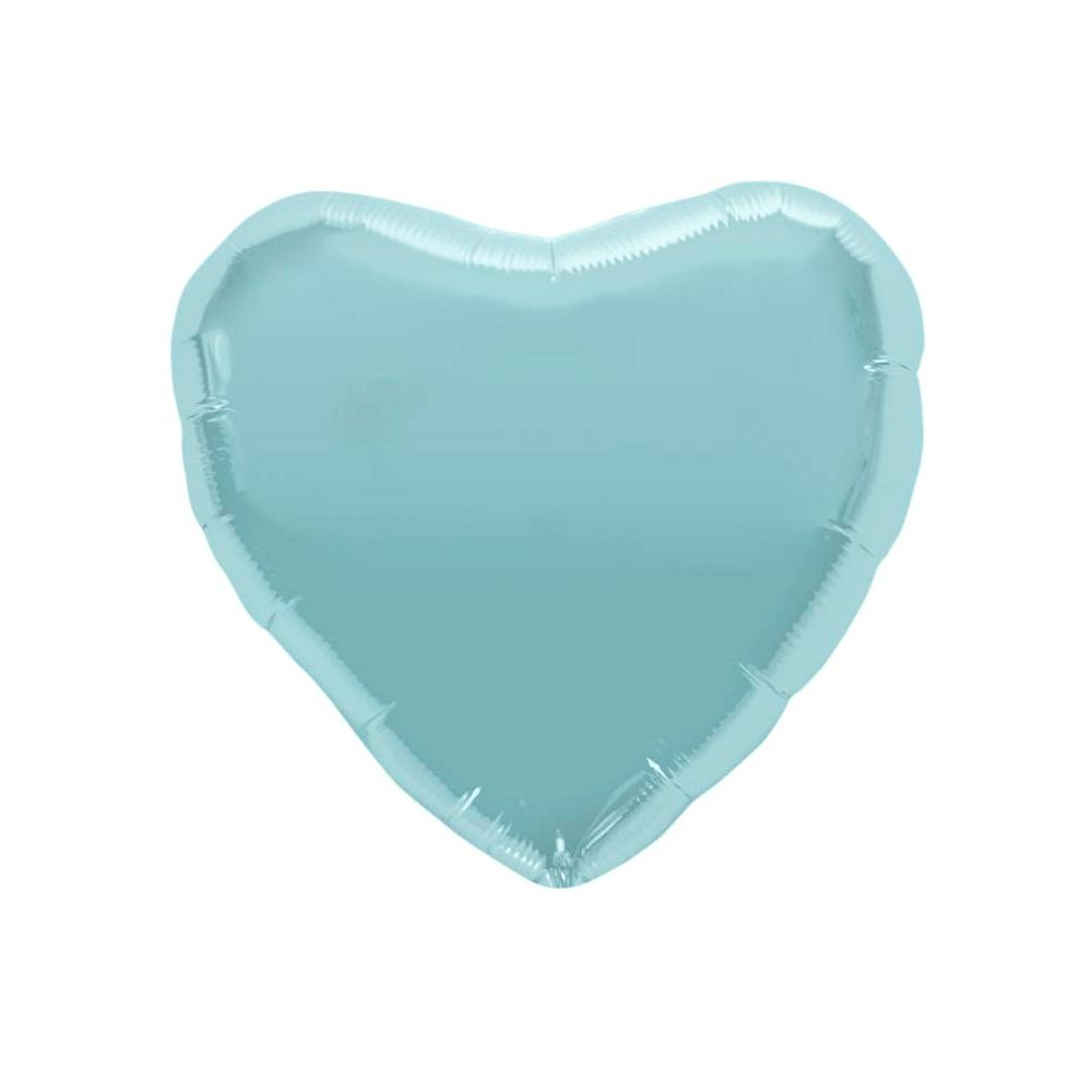 Ballon coeur bleu - 46 cm