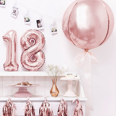 Ballon bulle rose gold - 40 cm
