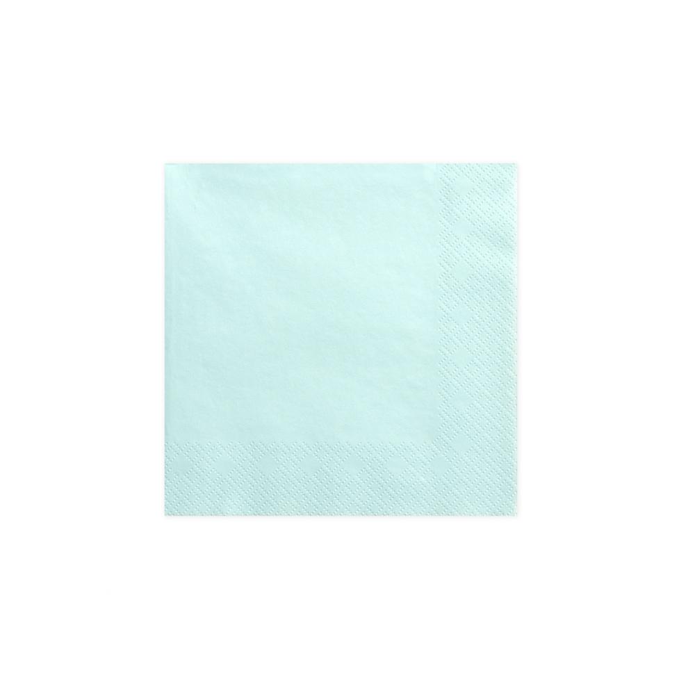 20 serviettes bleues