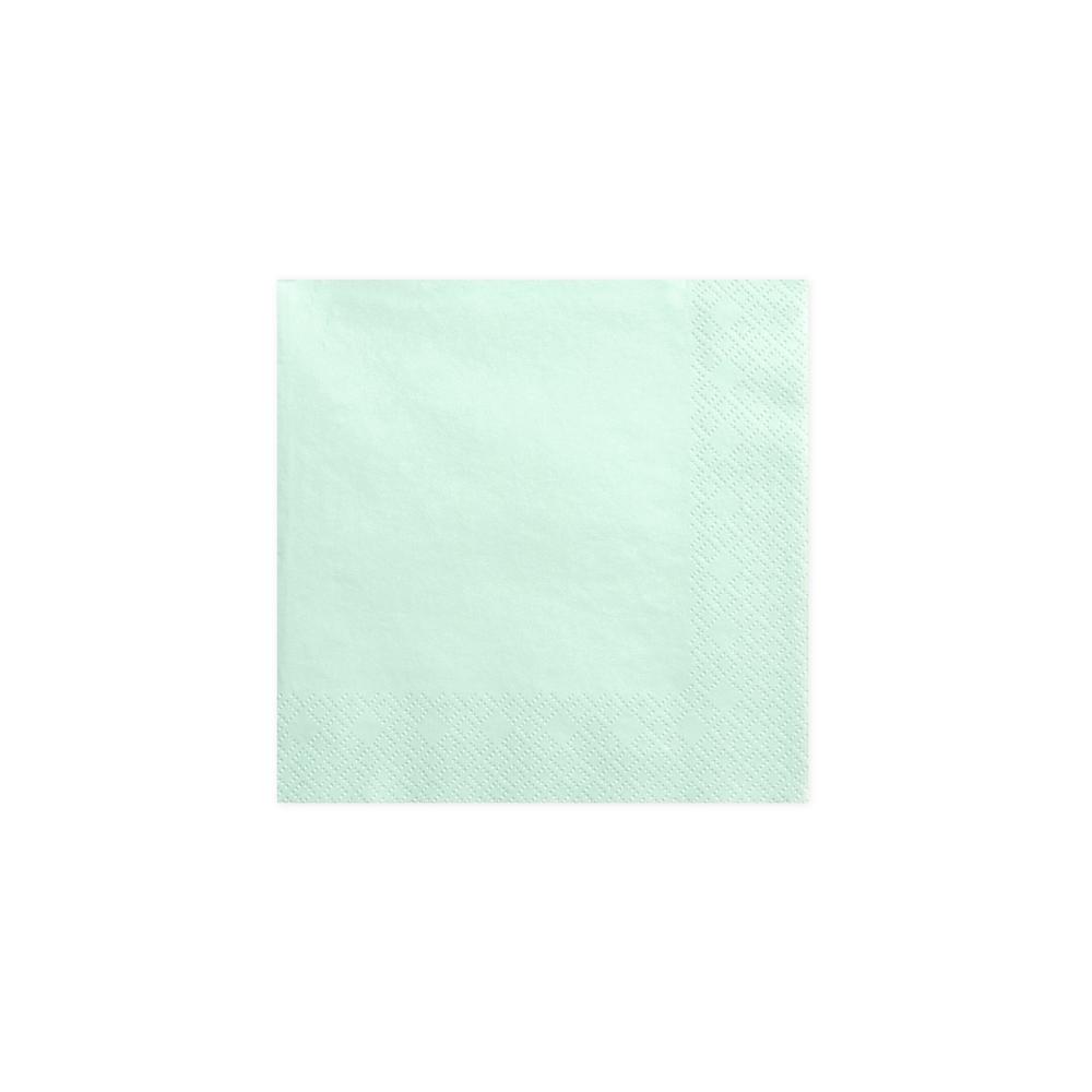 20 serviettes menthe