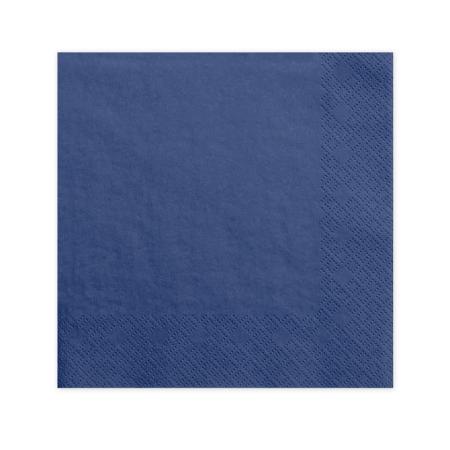 20 serviettes bleu marine