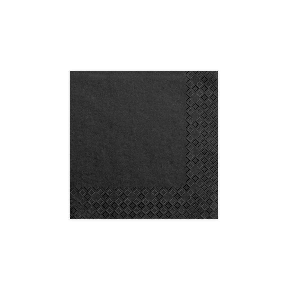 20 serviettes noires