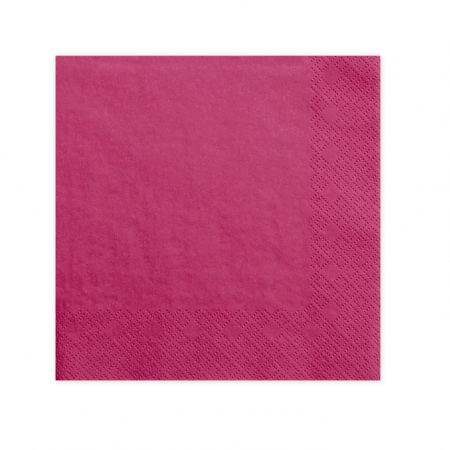 20 serviettes rose fuchsia