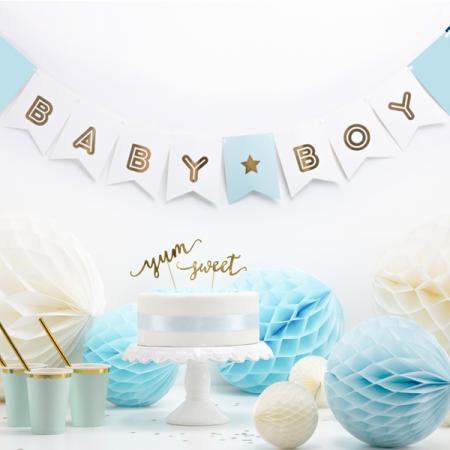 """Guirlande de fanions """"Baby boy"""" - 1,8 m"""