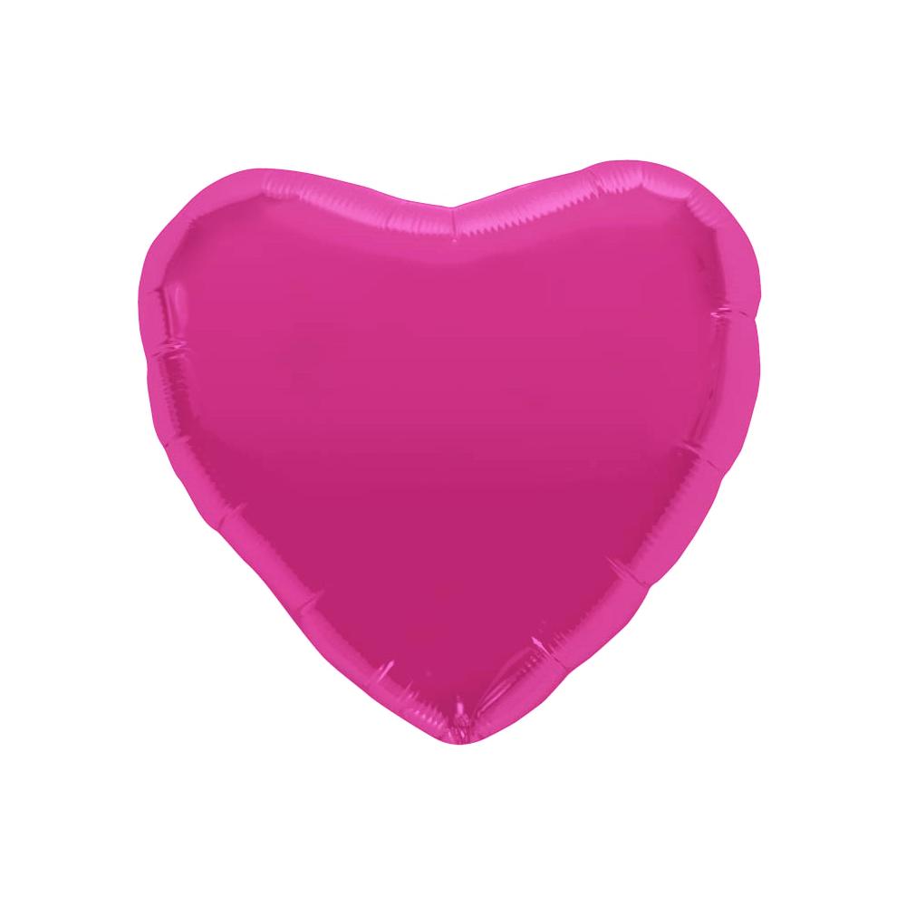 Ballon coeur fuchsia - 46 cm