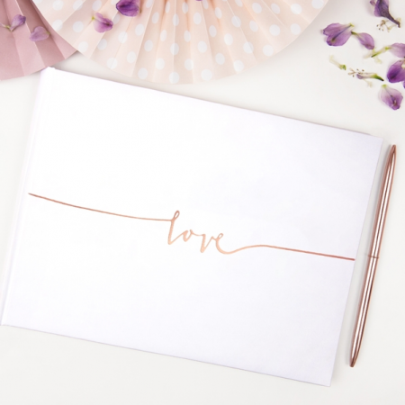 "Livre d'or ""Love"" rose gold"