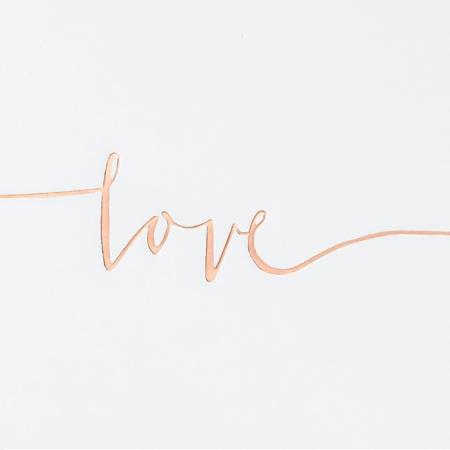 """Livre d'or """"Love"""" rose gold"""