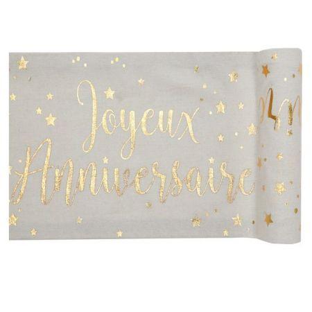 """Chemin de table """"Joyeux anniversaire"""" - 3 m"""