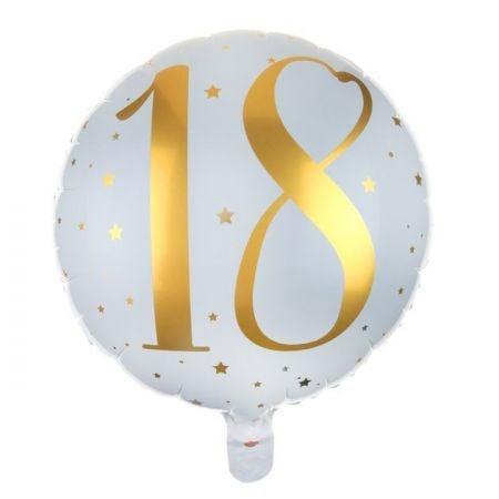 """Ballon anniversaire """"18 ans"""" - 35 cm"""