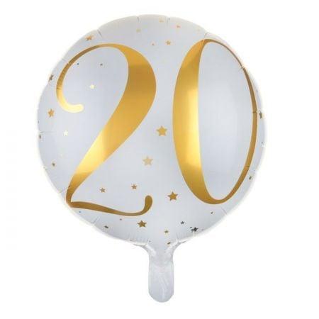 """Ballon anniversaire """"20 ans"""" - 35 cm"""