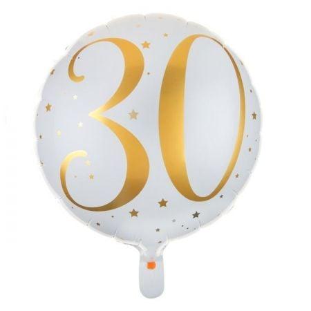 """Ballon anniversaire """"30 ans"""" - 35 cm"""