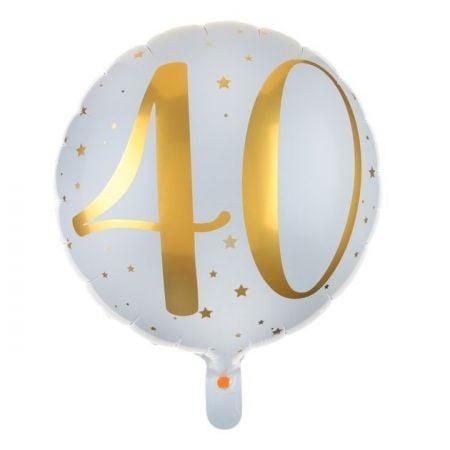 """Ballon anniversaire """"40 ans"""" - 35 cm"""