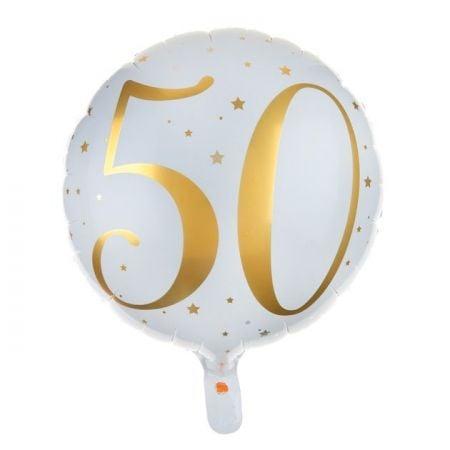 """Ballon anniversaire """"50 ans"""" - 35 cm"""