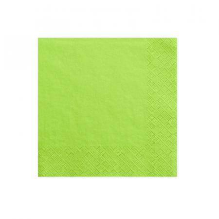 20 serviettes vert prairie