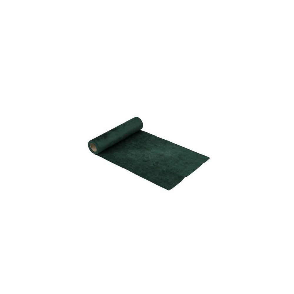 2,50 m chemin de table velours vert - 30 cm
