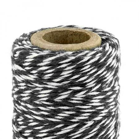 50 m ficelle baker twine noir & blanc