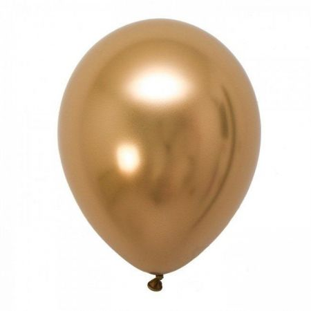 Ballon chrome doré -  30 cm