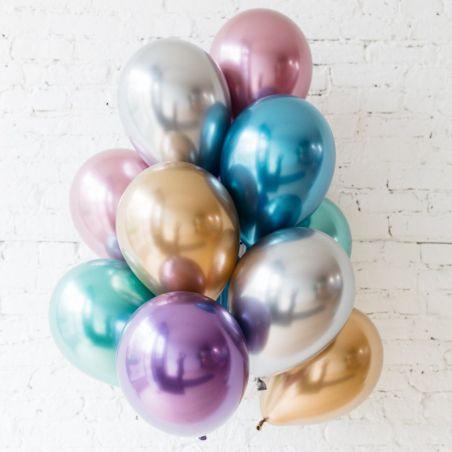 Ballon chrome doré -  30 cm