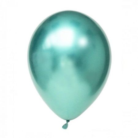 Ballon chrome menthe -  30 cm