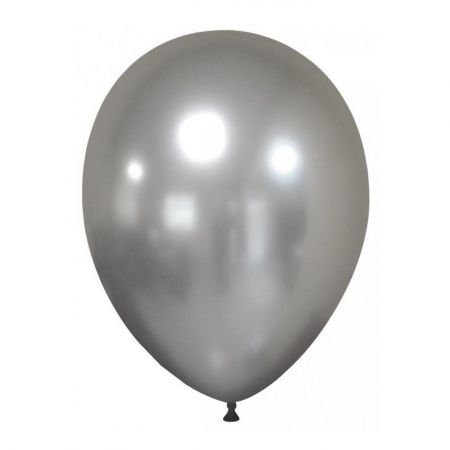 Ballon chrome argent -  30 cm