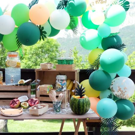 Ballon vert prairie - 28 cm