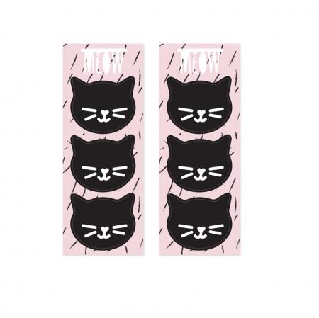 """6 sachets en papier """"chat"""""""