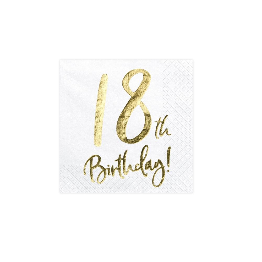"""20 serviettes """" 18 ans """""""