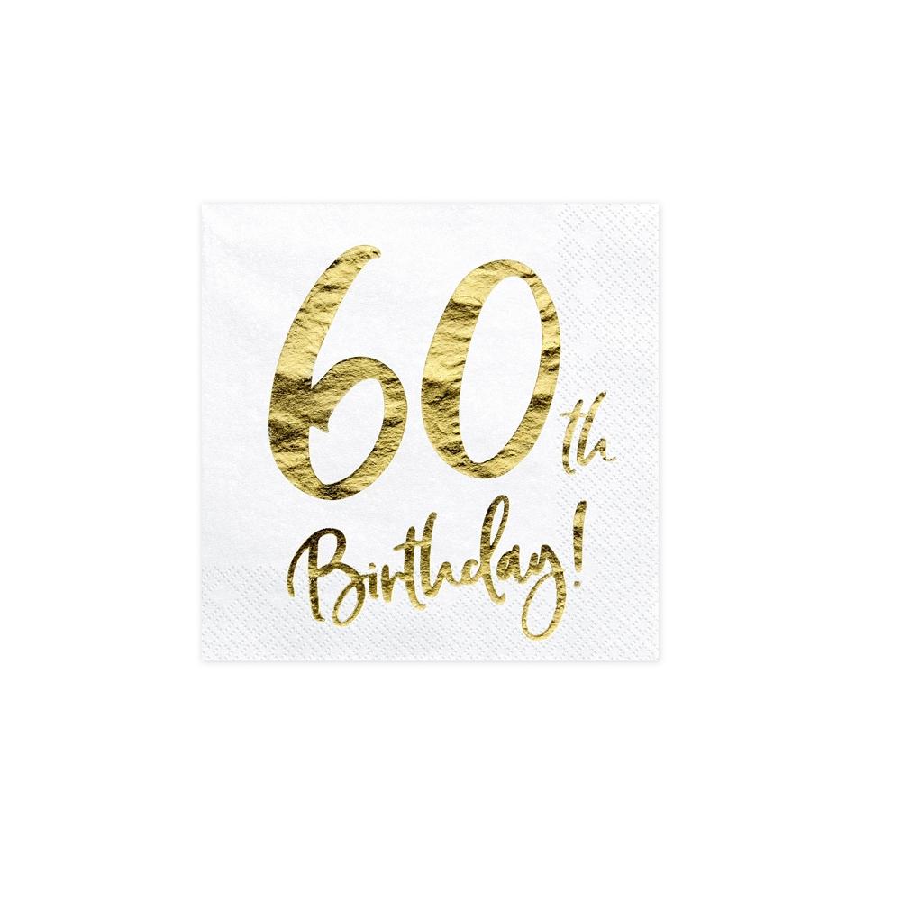 """20 serviettes """" 60 ans """""""