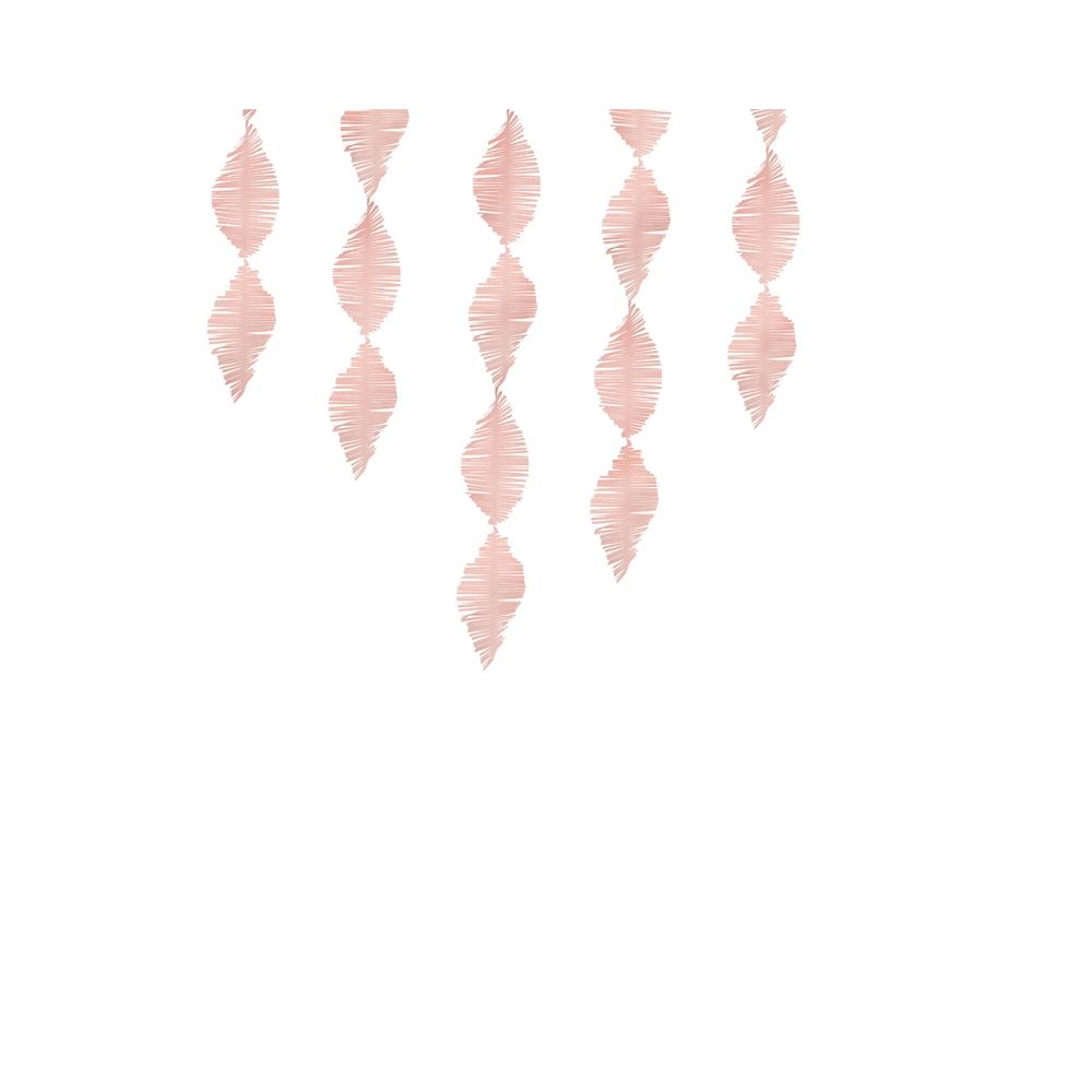 3 m guirlande crépon rose à franges