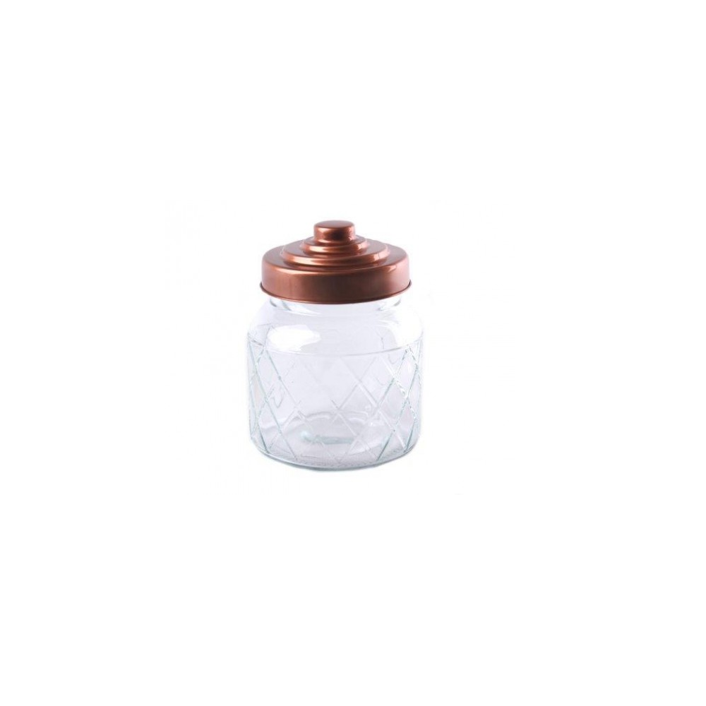Bonbonnière couvercle cuivre - 18 cm