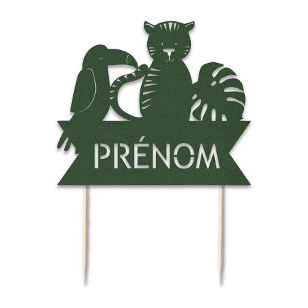 "Cake topper en papier personnalisable ""jungle"""