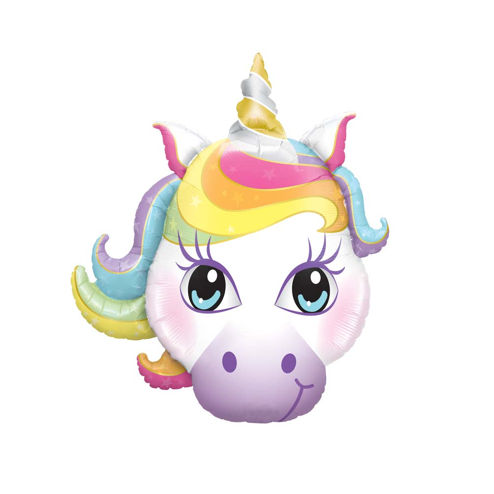 Ballon tête de licorne - 95 cm