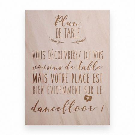 "Panneau en bois ""plan de..."