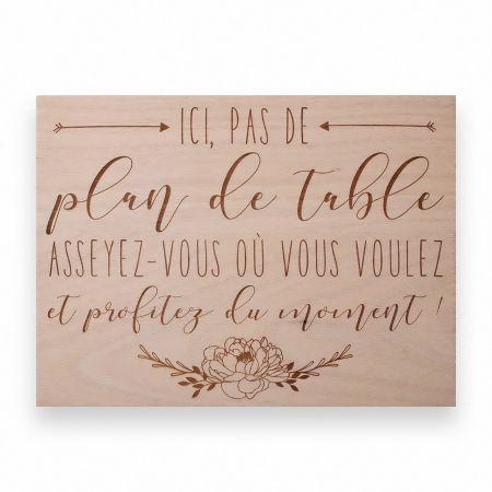 """Panneau en bois """"pas de..."""